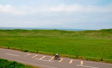 prefectural road 106 with Rishiri